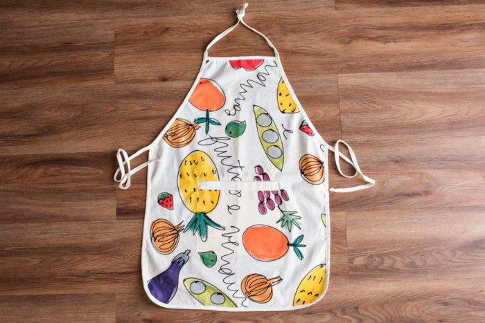 Avental de cozinha pintado à mão