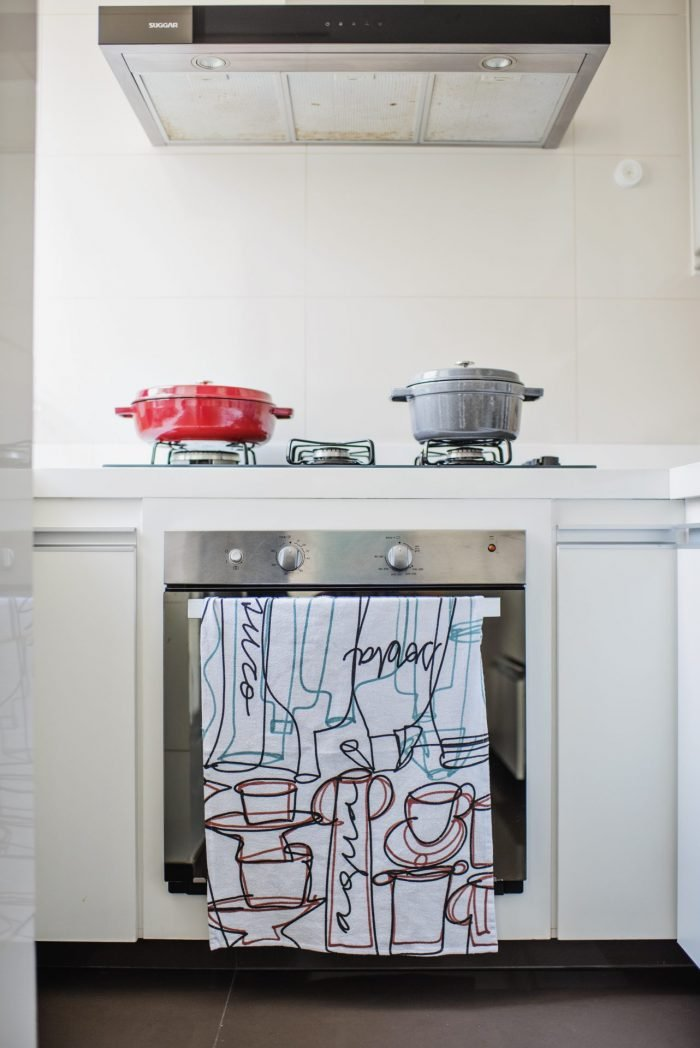 Pano de prato para cozinha pintado à mão
